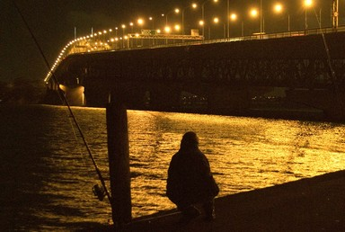 Fisherman, 11PM, relaxing without leaving the city