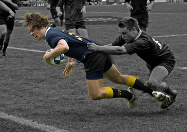 Dave Thomas scoring the decisive try to clinch the Secondary Schools 1st XV Auckland Final at Eden Park