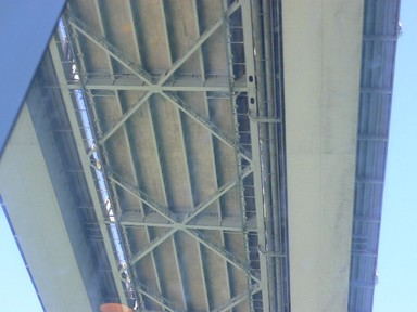 Winifred Struthers;Underside Auckland Harbour Bridge; Where the Clip on's meet