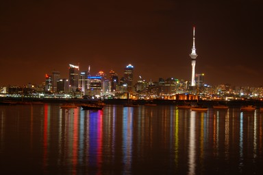 stunning reflection after a stormy night in Auckland