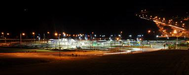 Albany bus station at night