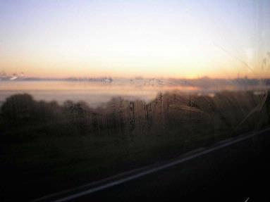 On a frosty morning heading in to town from Te Atatu