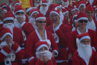Auckland Santa Fun Run 2009