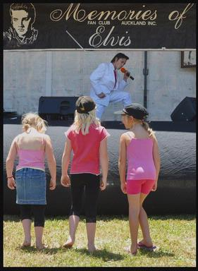 Young fans were wowed by the youthful Elvis Tribute Artist at the  Elvis in the Park day in Henderson this month.