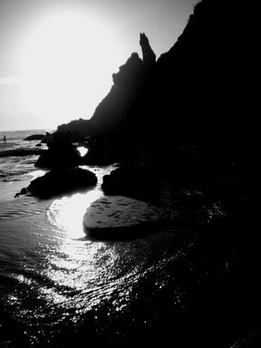 Taken at dusk at Lion Rock, Piha
