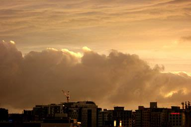 Annie Irving;Big Clouds; This month I've been watching the dramatic weather from my inner city apartment.