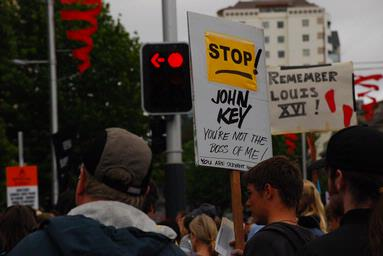 taken during 'March for Democracy' in Auckland