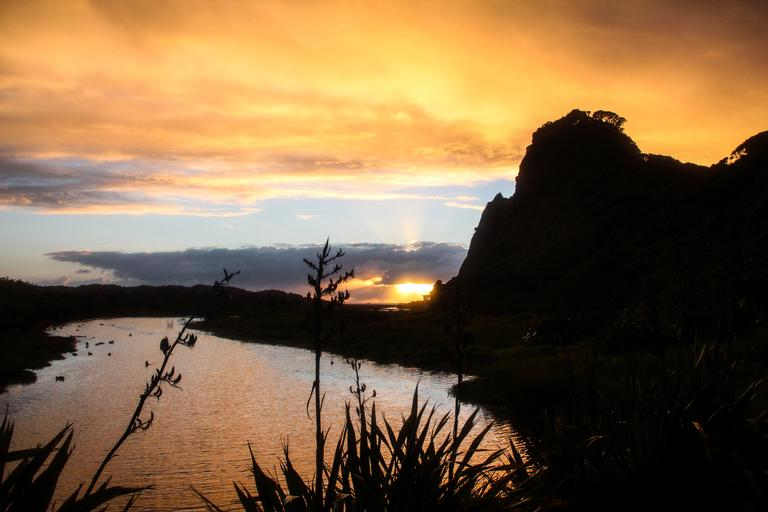 sunset Karekare Beach