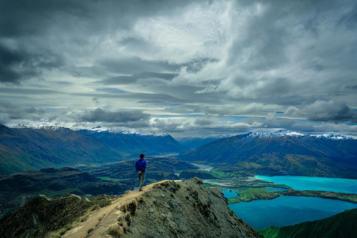 Andy Tao; God's perspective; taken at the top of Roys Peak with my dad in picture