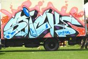 Mani Rao; Hey Bro!; A truck parked at the vibrant Pacific Island festival of Waitakere City