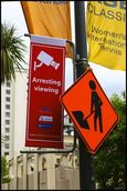 Janice Dunn; Arresting Viewing; All these signs seem to be telling us something   but what?