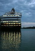 Doug Humby; Early morning on the Auckland waterfront; M.V Statendam