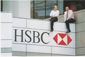 Julia Durkin; HSBC Bankers; This amused me that these chaps got a balcony view from the roof of the HSBC on Queen St. Nice way to spend lunchtime...