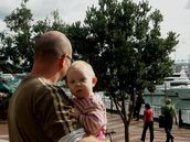Zelda Wynn; The Viaduct; Father and daughter enjoy the sun and views around the Viaduct Harbour