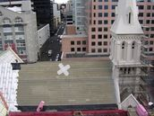 Julia Cotton; Rooftop renovation st St Patricks Cathedral