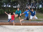 Marie Su'a;Jumping @ Pt Chev;Enjoying the day at Pt Chev beach
