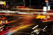 Ben Brown; Phasing; Shot cnr Customs and Queen Streets   entire phasing of traffic lights captured with long exposure