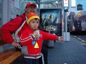 Janette Li; Here comes the City Circuit bus; This photo was taken at Britomart bus stop on 30 June 2009.