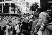 Richard Hayton; I remember...; Auckland 2009 santa parade, Queen Street in front of Smith and Caughys. This old lady really stood out in the crowd to me, I really hope I captured some of her majestic elegance