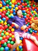 Linda Lew; Playground Thoughts; My sister at Lollipop Playland in Ellerslie