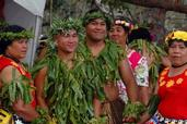 Andrew Brodie; Pasifika;Dancers waiting for their turn to perform.