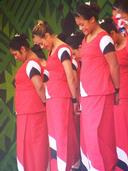 Linda Lew;Moment of serenity; A snap shot of a moment during a performance on the Samoan stage. Polyfest 2010