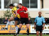 Grant Stantiall; The Header; Action from the 2007 Chatham Cup Final between Central United and Western Suburbs played at Kiwitea Street, Sandringham.