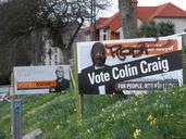 Manni Moore; Colin Craig placard gets defaced