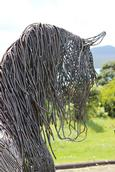 Leigh Burrell;Warhorse by Sharon Earl;NZ Sculpture OnShore 2014