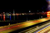 Giby Varghese;Auckland Skyline;Auckland Skyline and its busy motorways.